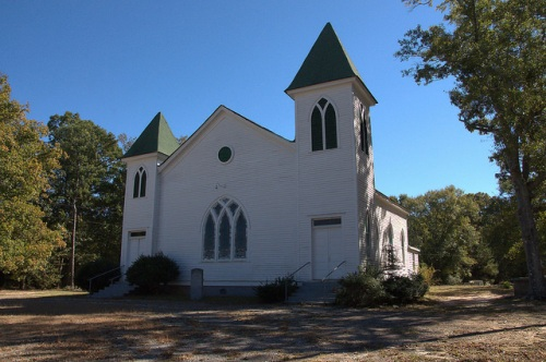 Center Methodist Church Oglethorpe County GA Photograph Copyright Brian Brown Vanishing North Georgia USA 2015