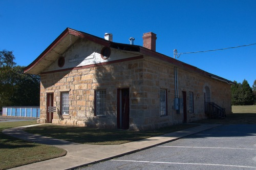 Crawford GA Oglethorpe County Georgia Railway Depot Photograph Copyright Brian Brown Vanishing North Georgia USA 2015