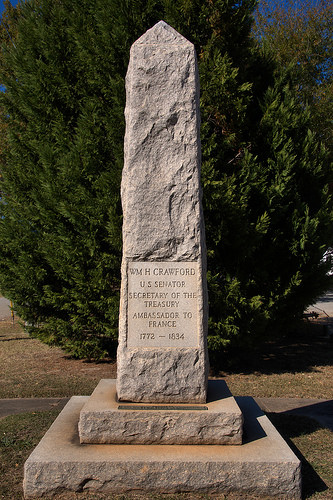 Crawford GA Oglethorpe County US Senator Secretary of Treasury William H Crawford Memorial Photograph Copyright Brian Brown Vanishing North Georgia USA 2015