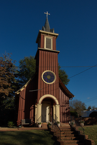 Episcopal Church of the Redeemer Greensboro GA Photograph Copyright Brian Brown Vanishing North Georgia USA 2014