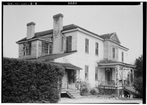 Governor George Gilmers House The Cedars Photograph by Branan Sanders Historic American Buildings Survey Public Domain Image 1934 Library of Congress