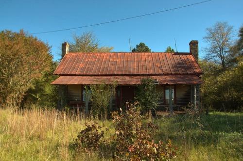Greene County GA Pioneer Farmhouse Bethany Church Road Photograph Copyright Brian Brown Vanishing North Georgia USA 2015