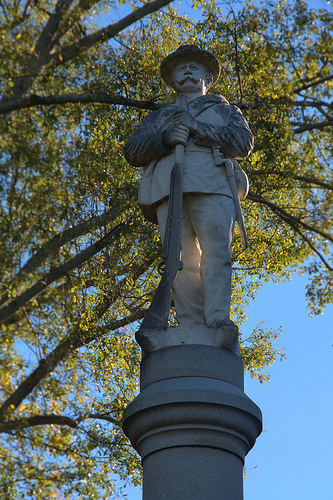 Greensboro GA Confederate Monument Photograph Copyright Brian Brown Vanishing North Georgia USA 2014
