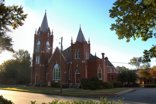 Greensboro GA First United Methodist Church Photograph Copyright Brian Brown Vanishing North Georgia USA 2014