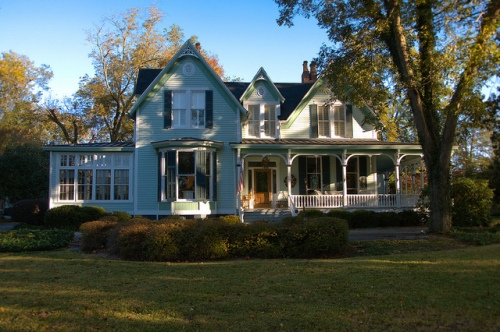 Greensboro GA Greene County Folk Victorian Triple Gable House Photograph Copyright Brian Brown Vanishing North Georgia USA 2014