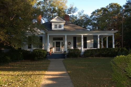 Greensboro GA Historic District Neoclassical House Photograph Copyright Brian Brown Vanishing North Georgia USA 2014