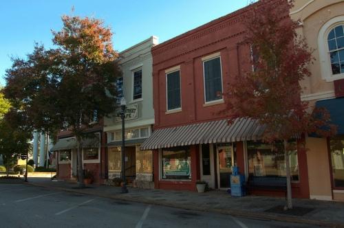 Greensboro GA Historic Downtown Storefronts Herald Journal Photograph Copyright Brian Brown Vanishing North Georgia USA 2014
