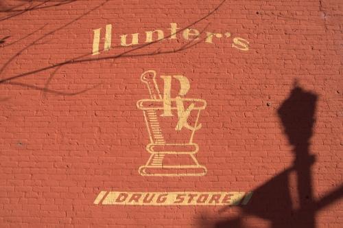 Greensboro GA Hunters Drug Store Photograph Copyright Brian Brown Vanishing North Georgia USA 2014