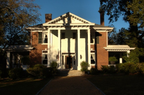 Greensboro GA Neoclassical Revival House Photograph Copyright Brian Brown Vanishing North Georgia USA 2014