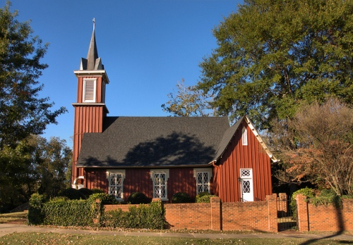 Historic Episcopal Church of the Redeemer Greensboro GA Photograph Copyright Brian Brown Vanishing North Georgia USA 2014