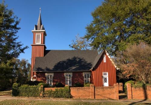 Historic Episcopal Church of the Redeemer Greensboro GA Photograph Copyright Brian Brown Vanishing North Georgia USA 2014
