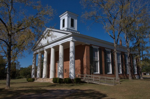 Historic Mercer Chapel Penfield GA Baptist Church Photograph Copyright Brian Brown Vanishing North Georgia USA 2015