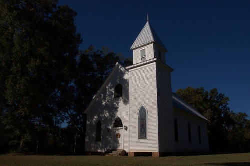 Historic Philomath Presbyterian Church Oglethorpe County GA Photograph Copyright Brian Brown Vanishing North Georgia USA 2015