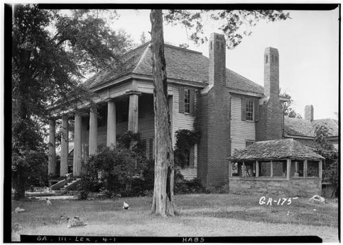 Lexington GA Cox Chedel Johnston House Photographed by L. D. Andrew Historic American Buildings Survey Courtesy Library of Congress