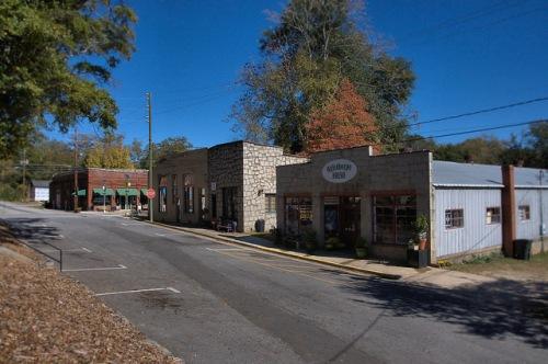Lexington GA Oglethorpe County Courthouse Square Granite Storefronts Photograph Copyright Brian Brown Vanishing North Georgia USA 2015