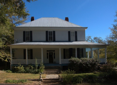 Lexington GA Oglethorpe County Cunningham House Photograph Copyright Brian Brown Vanishing North Georgia USA 2015