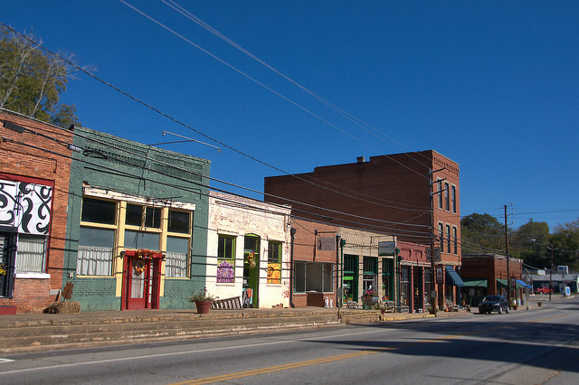 Lexington GA Oglethorpe County Historic Downtown Storefronts Photograph Copyright Brian Brown Vanishing North Georgia USA 2015