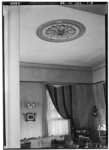 Lexington GA Photographer L D Andrew Judge Platt House Interior View Ceiling Medallion 1936 HABS Library of Congress