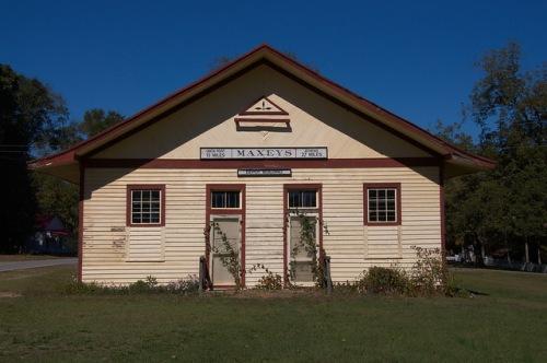 Maxeys GA Oglethorpe County Georgia Railroad Depot Photograph Copyright Brian Brown Vanishing North Georgia USA 2015