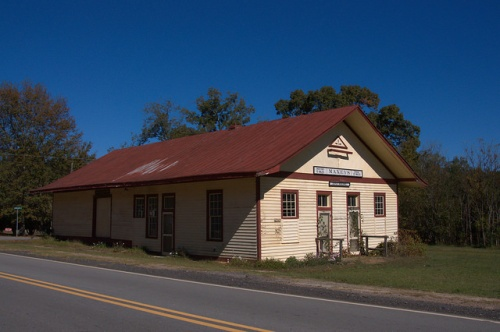 Maxeys GA Oglethorpe County Georgia Railway Depot Photograph Copyright Brian Brown Vanishing North Georgia USA 2015