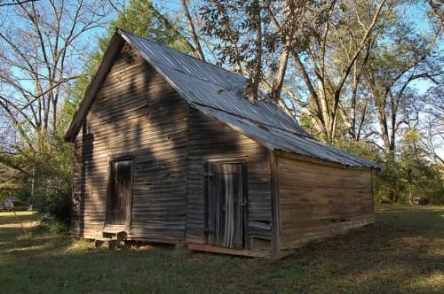 Philomath GA Oglethorpe County Coffin Barn Photograph Copyright Brian Brown Vanishing North Georgia USA 2015