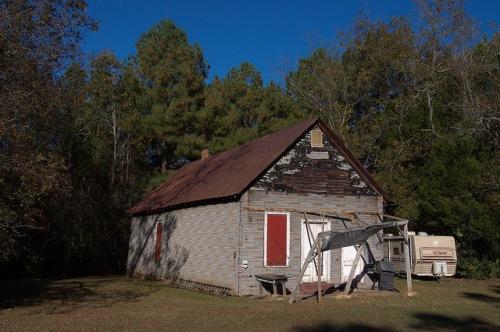 Philomath GA Oglethorpe County Tar Paper Warehouse Photograph Copyright Brian Brown Vanishing North Georgia USA 2015
