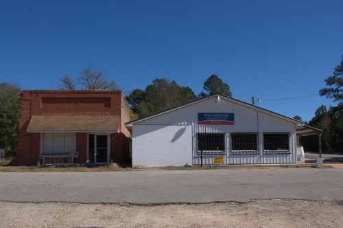 Stephens GA Oglethorpe County Downtown Moodys Corner Store Photograph Copyright Brian Brown Vanishing North Georgia USA 2015
