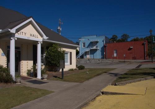 Union Point GA City Hall Greene County Photograph Copyright Brian Brown Vanishing North Georgia USA 2015