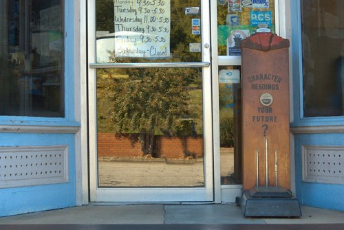 Union Point GA Drug Store Fortune Scales Photograph Copyright Brian Brown Vanishing North Georgia USA 2015