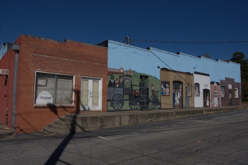 Union Point GA History Mural Photograph Copyright Brian Brown Vanishing North Georgia USA 2015