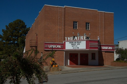 Union Theatre Union Point GA Photograph Copyright Brian Brown Vanishing North Georgia USA 2015