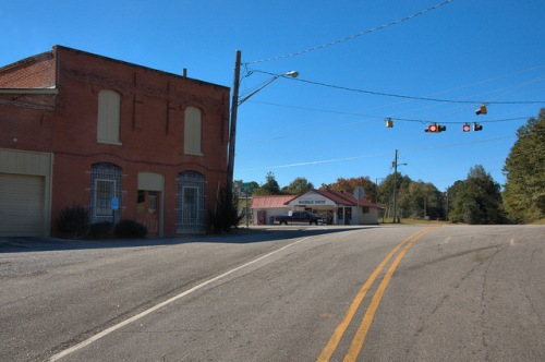 Woodville GA Greene County Crossroads Photograph Copyright Brian Brown Vanishing North Georgia USA 2015