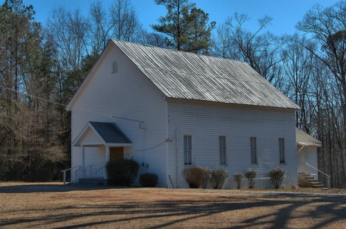 Adgateville Baptist Church Jasper County GA Photograph Copyright Brian Brown Vanishing North Georgia USA 2015