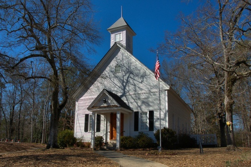 Clinton United Methodist Church Old Clinton GA Jones County Landmark Photograph Copyright Brian Brown Vanishing North Georgia USA 2015