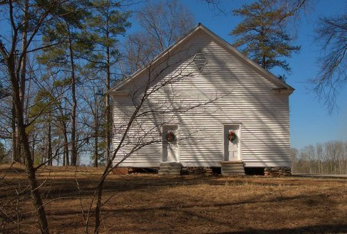 Concord Primitive Baptist Church Jasper County GA Photograph Copyright Brian Brown Vanishing North Georgia USA 2015