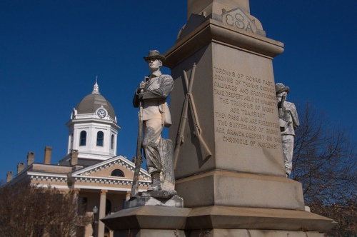 Confederate Monument Jasper County GA Photograph Copyright Brian Brown Vanishing North Georgia USA 2015