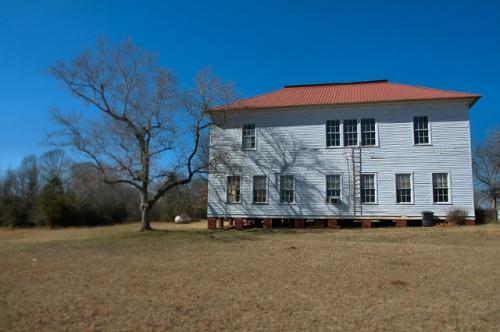 Hillsboro GA Ben Hill School Landmark Photograph Copyright Brian Brown Vanishing North Georgia USA 2015
