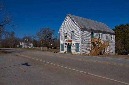 Hillsboro GA Jasper County Masonic Lodge Store Barbeque Photograph Copyright Brian Brown Vanishing North Georgia USA 2015