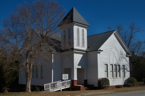 Hillsboro GA United Methodist Church Photograph Copyright Brian Brown Vanishing North Georgia USA 2015