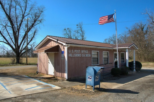 Hillsboro GA US Post Office Photograph Copyright Brian Brown Vanishing North Georgia USA 2015