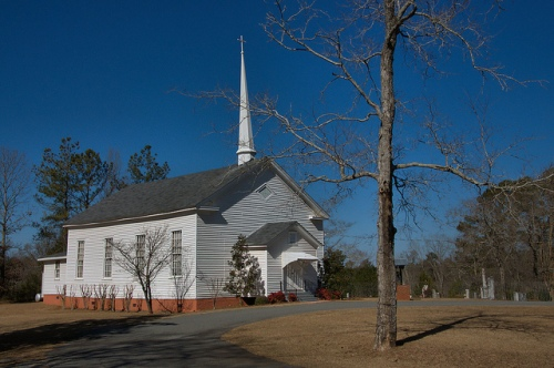 Historic Sunshine Methodist Church Round Oak GA Jones County GA Site of Civil War Battle Photograph Copyright Brian Brown Vanishing North Georgia USA 2015