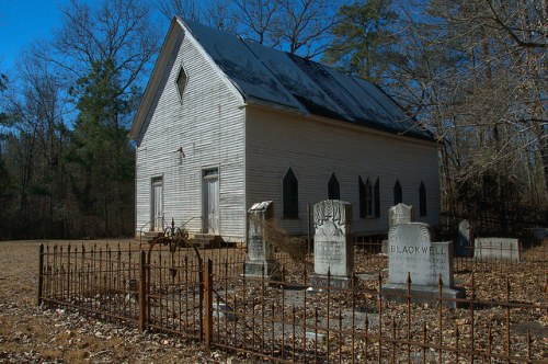 Hopewell Baptist Church Jasper County GA Samuel Blackwell Cemetery Photograph Copyright Brian Brown Vanishing North Georgia USA 2015