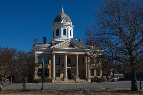 Jasper County Courthouse Monticello GA Photograph Copyright Brian Brown Vanishing North Georgia USA 2015