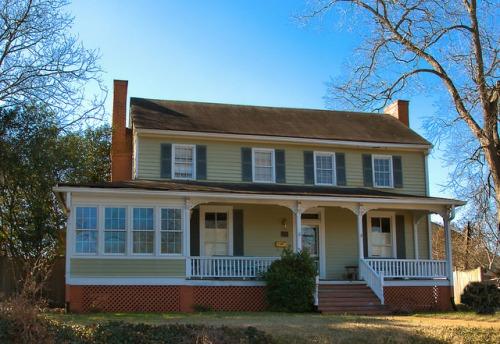 Monticello GA Federal Style House Photograph Copyright Brian Brown Vanishing North Georgia USA 2015