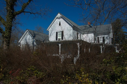Monticello GA Folk Victorian House Photograph Copyright Brian Brown Vanishing North Georgia USA 2015