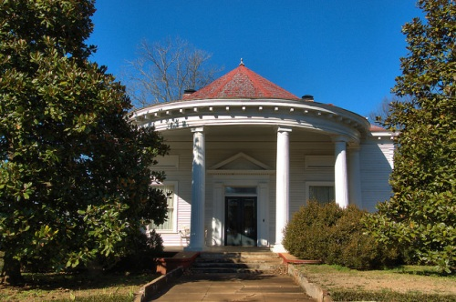 Monticello GA Greek Revival Rouded Portico House Photograph Copyright Brian Brown Vanishing North Georgia USA 2015