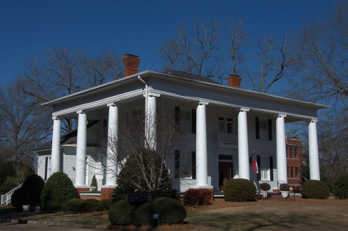 Monticello GA Jasper County Greek Revival Mansion Photograph Copyright Brian Brown Vanishing North Georgia USA 2015