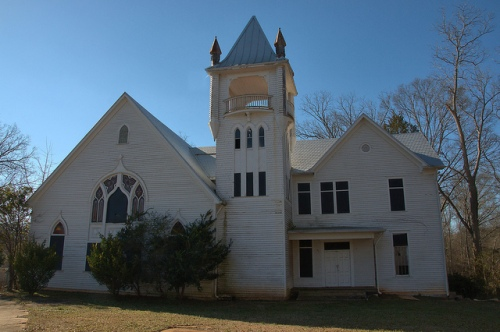 Monticello GA Jasper County Old Methodist Church Photograph Copyright Brian Brown Vanishing North Georgia USA 2015