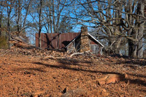 Nolan Plantation Tenant House Red Clay Bostwick GA Photograph Copyright Brian Brown Vanishing North Georgia USA 2015