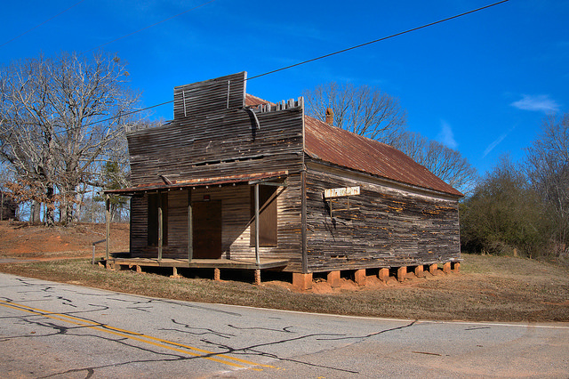 Nolan Store Commissary Bostwick GA Morgan County Photograph Copyright Brian Brown Vanishing North Georgia USA 2015
